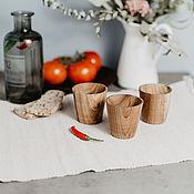 Посуда handmade. Livemaster - original item Set of Wooden wine glasses (3#14. Handmade.