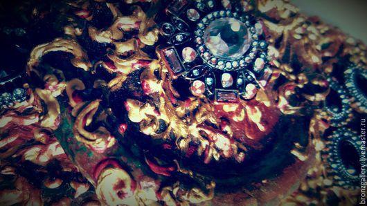 """Подвески ручной работы. Ярмарка Мастеров - ручная работа. Купить """"Барокко-Рококо"""". Handmade. Бордовый, рококо, роспись контурами, для украшений"""