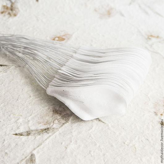 Материалы для флористики ручной работы. Ярмарка Мастеров - ручная работа. Купить 50 шт Лепестки плюмерии белые. Handmade.