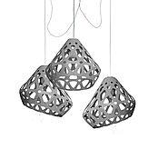 Для дома и интерьера handmade. Livemaster - original item ZAHA trehrozhkovye LIGHT grey chandelier. Handmade.