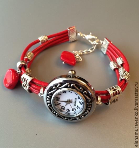 """Часы ручной работы. Ярмарка Мастеров - ручная работа. Купить Часы """"Коралл"""". Handmade. Украшения ручной работы, Часы кварцевые"""
