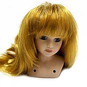 Материалы для творчества ручной работы. Ярмарка Мастеров - ручная работа парик для кукол волосы прямые русые Д 8 см длина 18 см. Handmade.