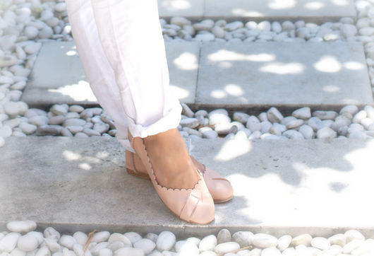 Обувь ручной работы. Ярмарка Мастеров - ручная работа. Купить Flores+, очаровательные женские балетки.. Handmade. Бежевый