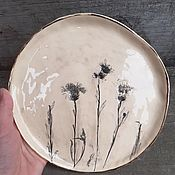 Посуда handmade. Livemaster - original item Cornflowers Plate. Handmade.