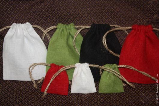 """Упаковка ручной работы. Ярмарка Мастеров - ручная работа. Купить Льняные мешочки """"Саше"""". Handmade. Льняные изделия, недорогие мешочки"""