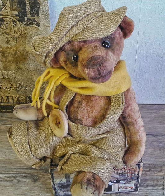 """Мишки Тедди ручной работы. Ярмарка Мастеров - ручная работа. Купить Тедди мишка """" Гаврош"""". Handmade. Бежевый"""