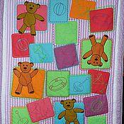 Для дома и интерьера handmade. Livemaster - original item MI-MI-BEARS baby blanket for a newborn, a blanket in the crib. Handmade.
