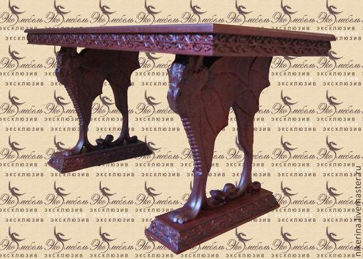 """Мебель ручной работы. Ярмарка Мастеров - ручная работа. Купить Стол """"Царство драконов"""". Handmade. Коричневый, стол с драконом, драконы"""