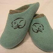 """Обувь ручной работы. Ярмарка Мастеров - ручная работа Валяные тапочки """"Тише мыши..."""". Handmade."""