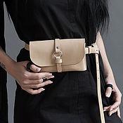 Сумки и аксессуары handmade. Livemaster - original item Waist bag/clutch (beige). Handmade.