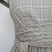 Одежда ручной работы. Ярмарка Мастеров - ручная работа Платье хлопковое в клетку. Handmade.