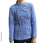 Одежда handmade. Livemaster - original item Women`s Winter garden jumper, large knit, knobs, wool, cashmere. Handmade.