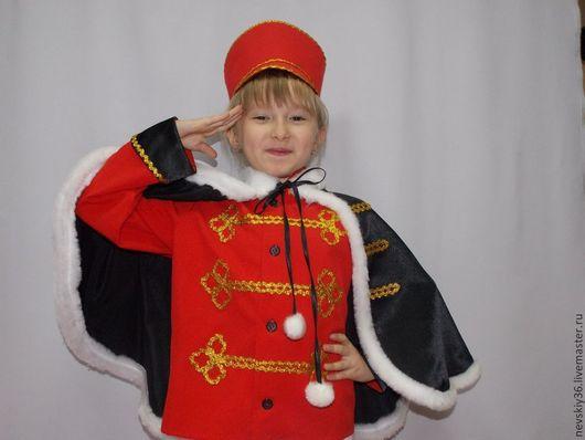 Детские карнавальные костюмы ручной работы. Ярмарка Мастеров - ручная работа. Купить Гусар. Handmade. Ярко-красный, утренник