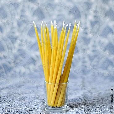 Для дома и интерьера ручной работы. Ярмарка Мастеров - ручная работа Свечи 100 шт маканые  из пчелиного воска. Handmade.