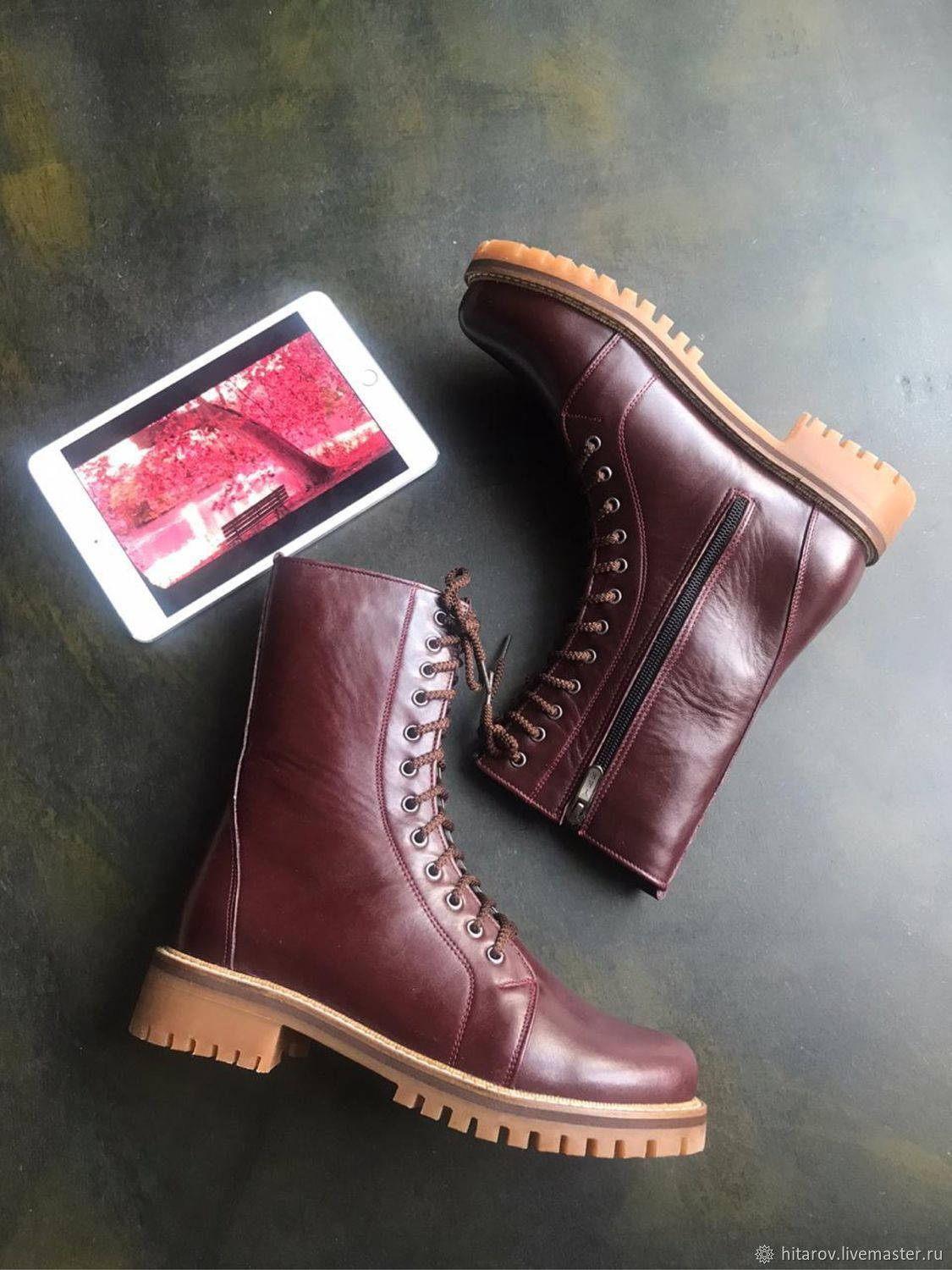 Time 'Bordeaux' tread sole», Boots, Moscow,  Фото №1