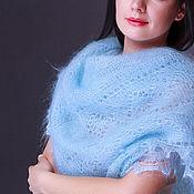 Аксессуары handmade. Livemaster - original item Blue downy shawl. Handmade.
