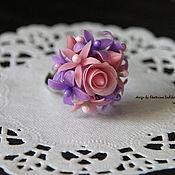 Украшения ручной работы. Ярмарка Мастеров - ручная работа кольцо Розово-сиреневые мечты. Handmade.