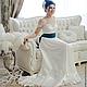 Одежда и аксессуары ручной работы. Свадебное платье с шелковым поясом. 'MAIDEN  BAZAR'  creative workshop. Ярмарка Мастеров. Вышивка на кружеве