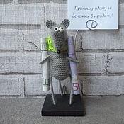 Год Крысы 2020 ручной работы. Ярмарка Мастеров - ручная работа Мышь денежная символ 2020 года. Handmade.