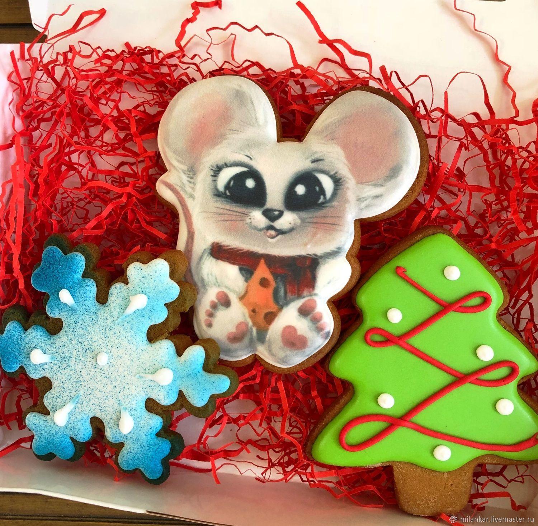 Новогодние игрушки. Пряники на новый год, Набор пряников, Москва,  Фото №1