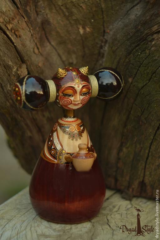 Коллекционные куклы ручной работы. Ярмарка Мастеров - ручная работа. Купить Капелька.Авторская кукла из дерева.. Handmade. кукла, домовенок