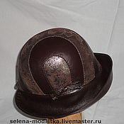 Аксессуары ручной работы. Ярмарка Мастеров - ручная работа Женская шляпа-трансформер, натуральная кожа, шерстяной колпак, подклад. Handmade.