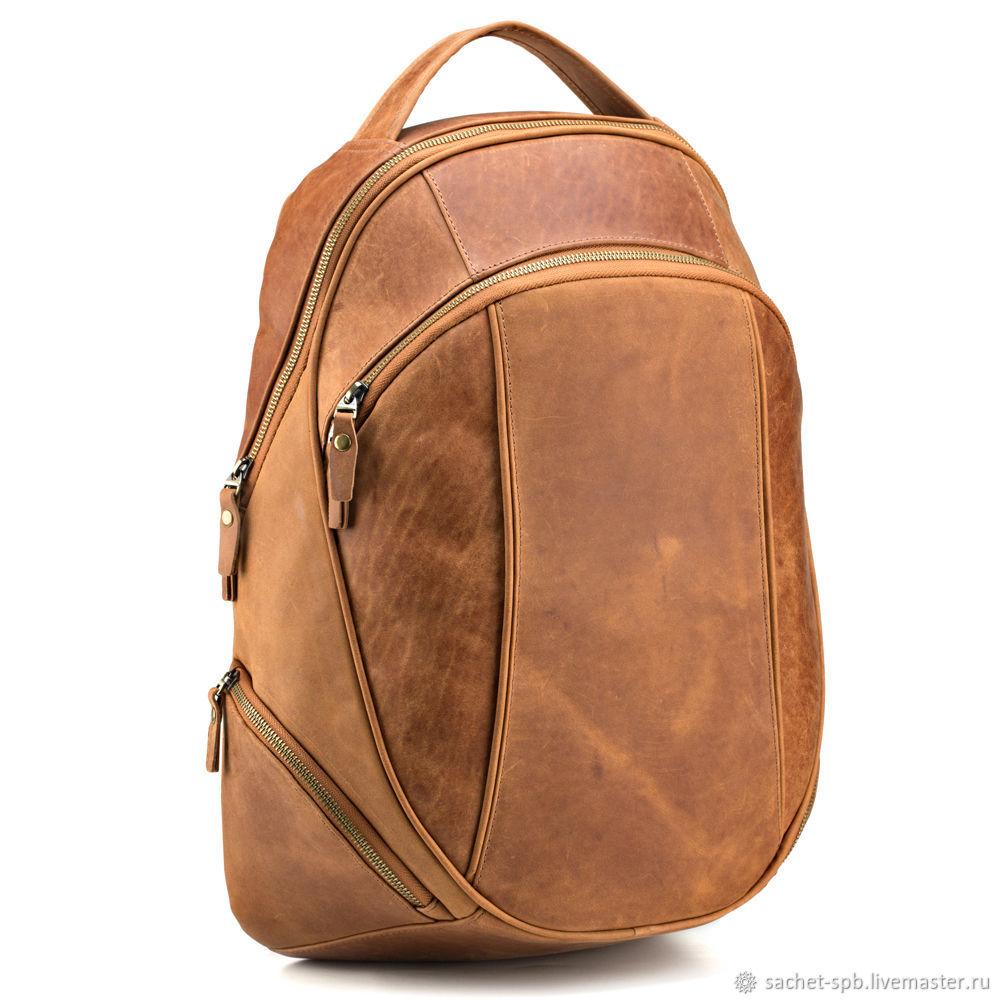 Leather backpack 'Lancelot' (red crazy), Backpacks, St. Petersburg,  Фото №1