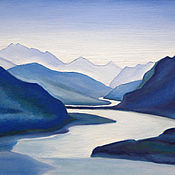 Картины и панно handmade. Livemaster - original item A copy of the picture N. Roerich`s