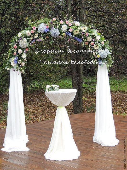 Свадебные цветы ручной работы. Ярмарка Мастеров - ручная работа. Купить Цветочная арка. Handmade. Выездная регистрация, цветочное оформление
