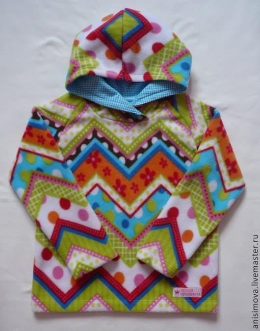 Одежда унисекс ручной работы. Ярмарка Мастеров - ручная работа. Купить Худи из флиса. Handmade. Рисунок, худи, для мальчика, флис