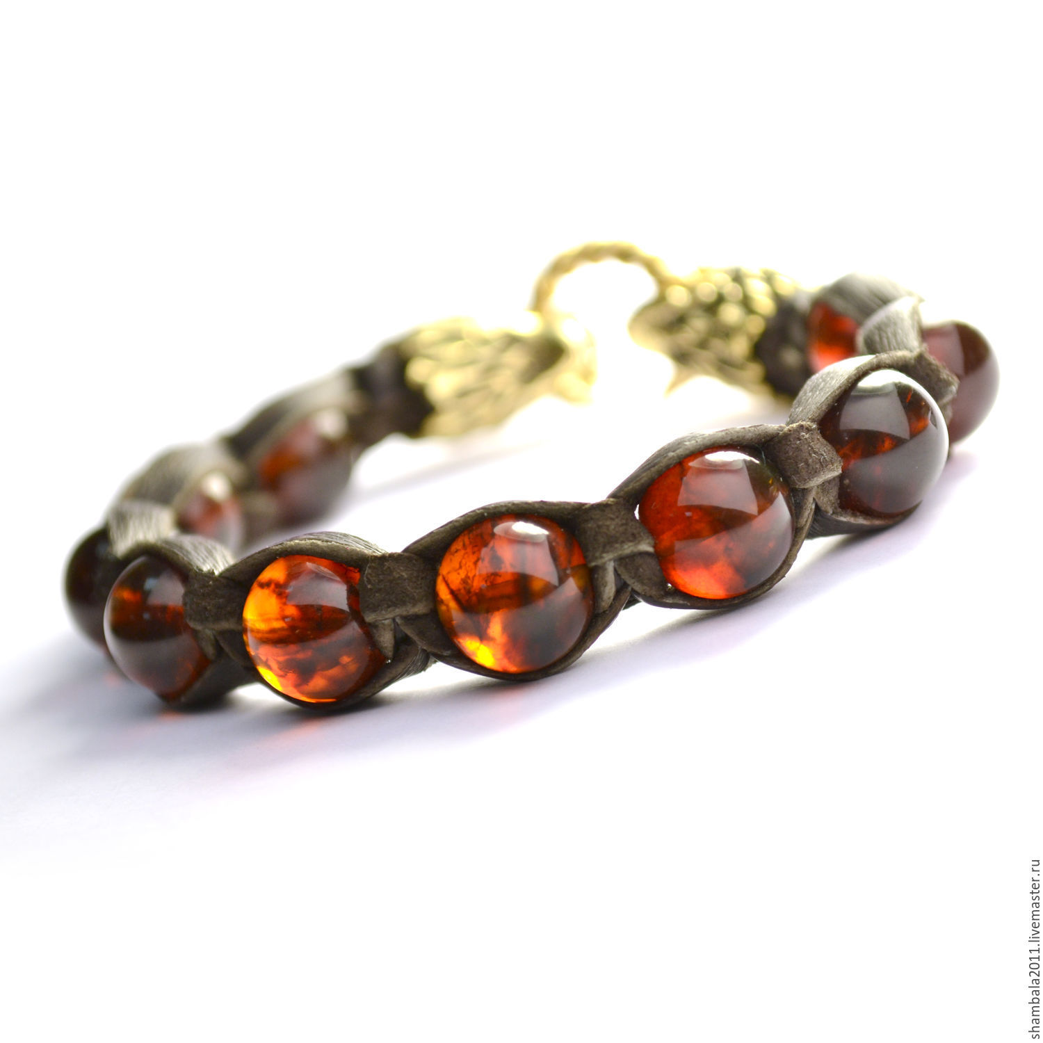 Shamballa bracelet with Baltic amber Wolves. Leather bracelet. Men's bracelet made of amber. Shamballa genuine stones. Men's jewelry. Amber. Mascots. amulets. Charms