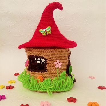 Dolls & toys handmade. Livemaster - original item House for finger theatre Teremok. Handmade.