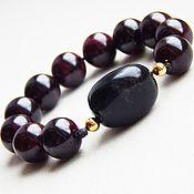 Rosary handmade. Livemaster - original item Earthy beads of pomegranate. Handmade.