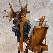 Для дома и интерьера ручной работы. Ярмарка Мастеров - ручная работа Лось-художник. Handmade.