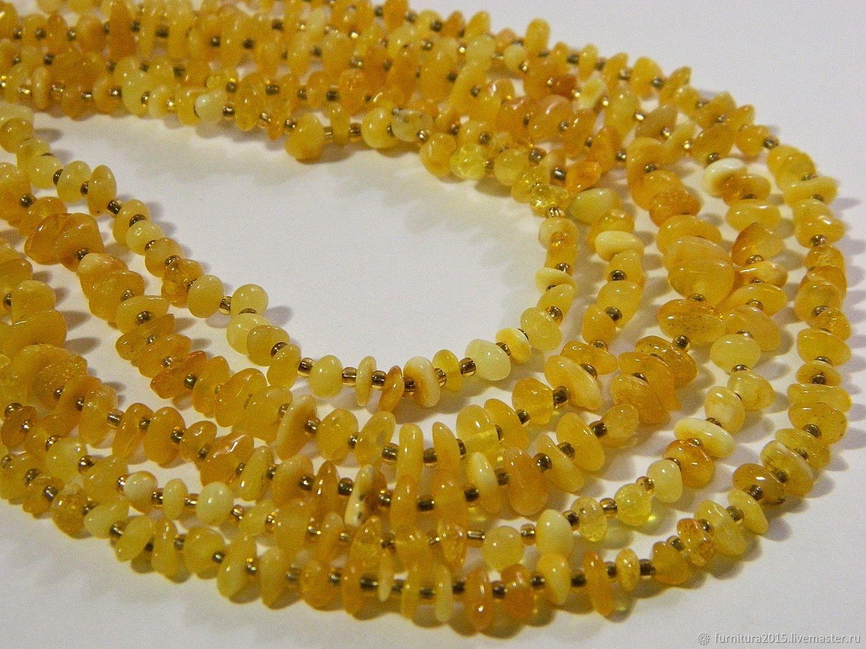 Amber beads tumbling.(2BJ) Thread, Beads1, Saratov,  Фото №1