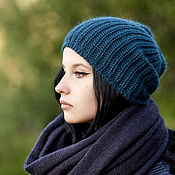 Аксессуары handmade. Livemaster - original item Caps: Angora knitted hat for women. Handmade.