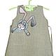 Одежда для девочек, ручной работы. Ярмарка Мастеров - ручная работа. Купить Льняное детское платье.Ручная роспись.Размер по росту 86 см. Handmade.