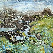 Картины и панно ручной работы. Ярмарка Мастеров - ручная работа Картина Тундра весной. Handmade.