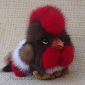 Куклы и игрушки handmade. Livemaster - original item Rooster-keychain contains Ricky. Reserve.Toy fur. Handmade.