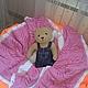 Пледы и одеяла ручной работы. Ярмарка Мастеров - ручная работа. Купить Детский плед Тюльпанчик. Handmade. Розовый, косы
