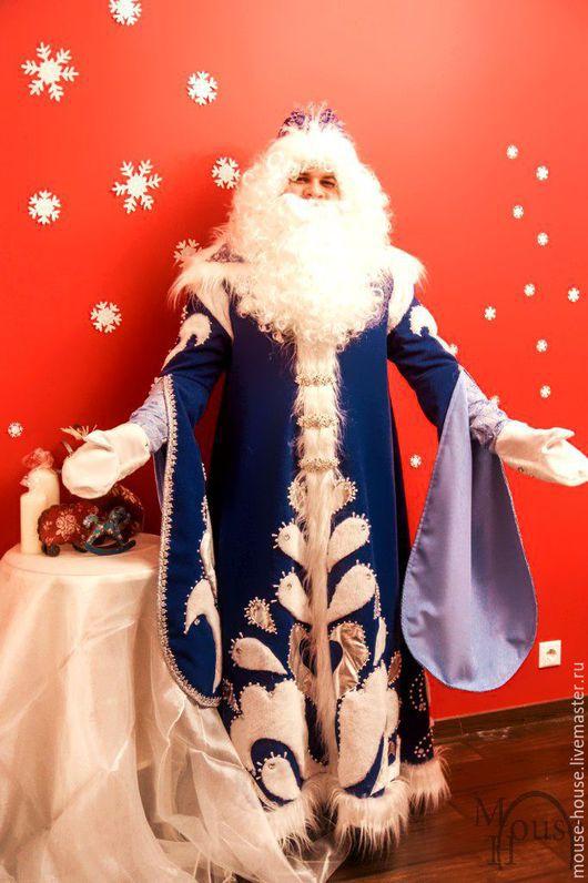 Карнавальные костюмы ручной работы. Ярмарка Мастеров - ручная работа. Купить Дед мороз синий 2. Handmade. вип костюмы