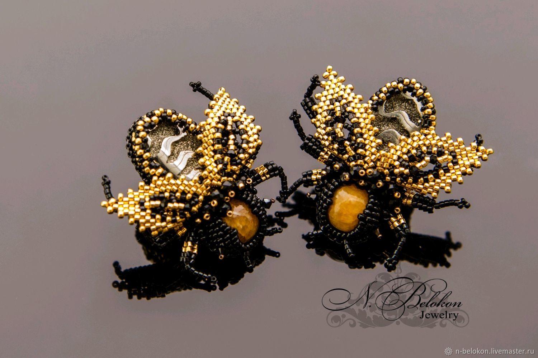 Cufflinks bees, bugs, spiders, ladybugs, butterflies...at choice, Cuff Links, Ulyanovsk,  Фото №1
