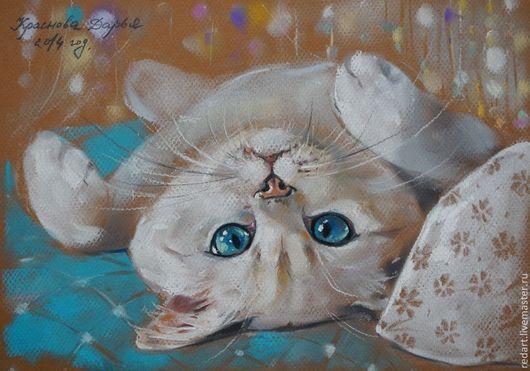 Животные ручной работы. Ярмарка Мастеров - ручная работа. Купить Эти глаза напротив.... Handmade. Белый, белая кошка