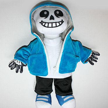Куклы и игрушки ручной работы. Ярмарка Мастеров - ручная работа Мягкая игрушка Скелетик Санс Skeleton Sans. Handmade.