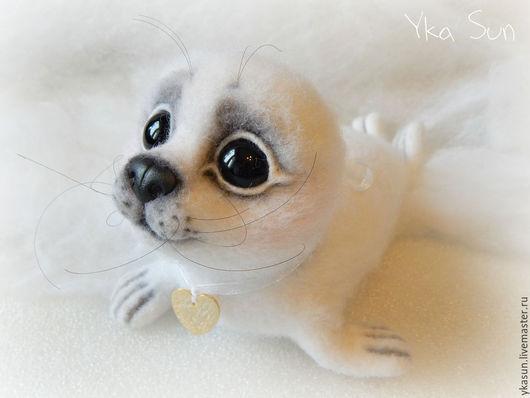 Игрушки животные, ручной работы. Ярмарка Мастеров - ручная работа. Купить Детеныш тюленя (белёк) Васенька. Handmade. Белый