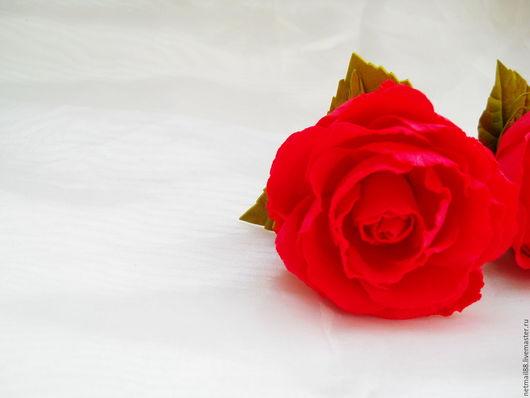 Резинка для волос Роза Красная, для девочки, для девушки