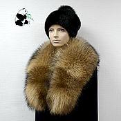Аксессуары handmade. Livemaster - original item Chic detachable fur collar boa raccoon fur. Handmade.