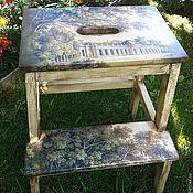 Для дома и интерьера ручной работы. Ярмарка Мастеров - ручная работа табурет-лестница. Handmade.