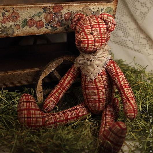 Куклы Тильды ручной работы. Ярмарка Мастеров - ручная работа. Купить Тильда мишка клетчатый. Handmade. Тильда мишка