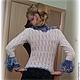 """Кофты и свитера ручной работы. Заказать Ажурная кофточка с воланами """"Фламенко"""". от Хелен (otHelen). Ярмарка Мастеров. Вязание спицами, рюши"""